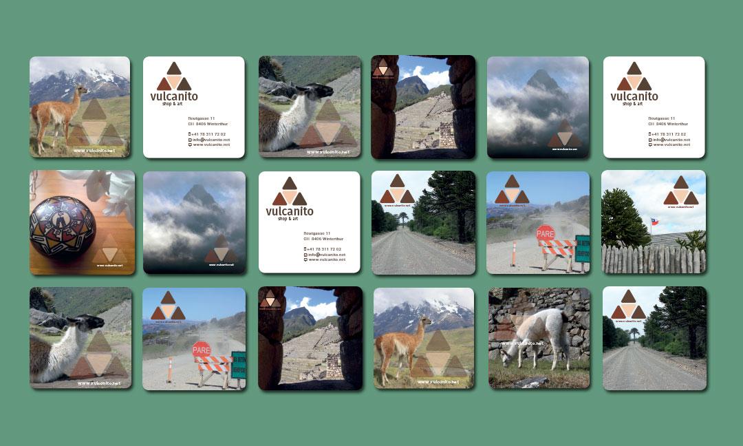 hilledesign Portfolio vulcanito Grafik Design Visitenkarten