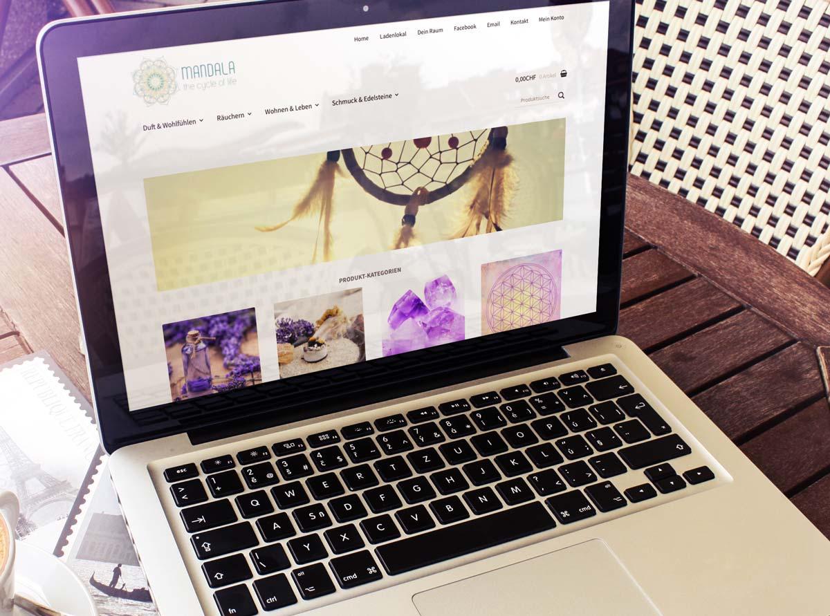 hilledesign Portfolio mandala Web Design Homepage